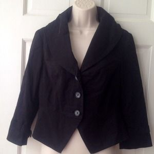 Jackets & Blazers - Heavy Weight Black Structured Jacket