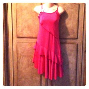 NWOT Hot Pink Dress XS-M