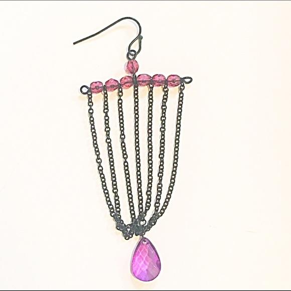Express Jewelry - 🌅👂🏼Purple & Black Chandelier Earrings