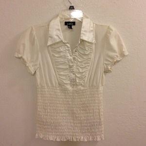 Ivory blouse!