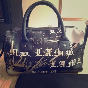 L.A.M.B grey/black Satchel