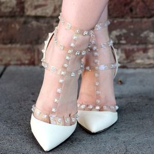 Shoes - Valentino Crystal Rockstuds