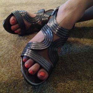 Studio Paolo Shoes - NEW Pewter Metallic Heels