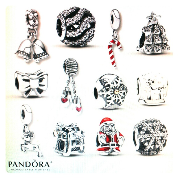 pandora le 12 days of christmas charm bracelet set