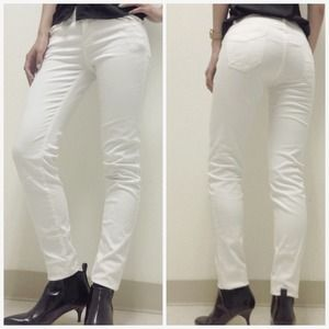 Zara Denim Slim Jeans in White