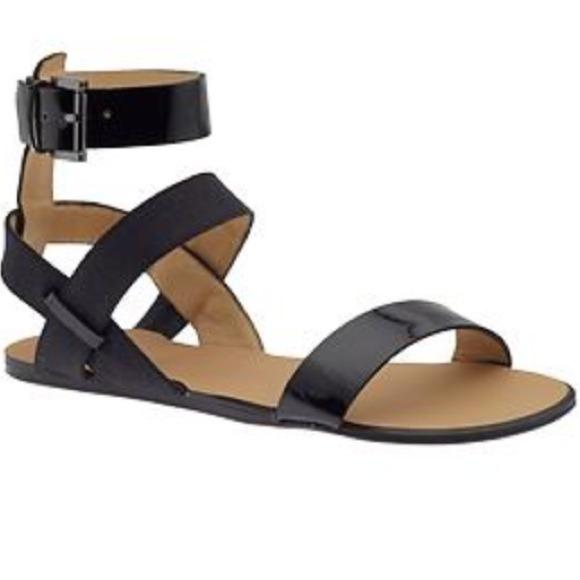 a6a22362b72a Joe s jeans eryn black sandals flat strappy shoes