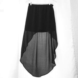 Black high-low Zara skirt
