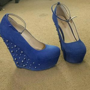Cobalt blue wedges
