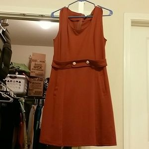 Dresses & Skirts - Burnt orange pocket dress