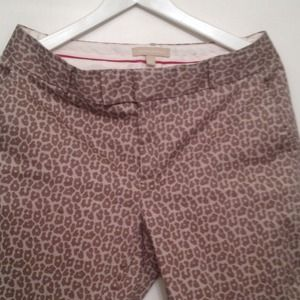 Banana Republic Capri pants, cheetah print.