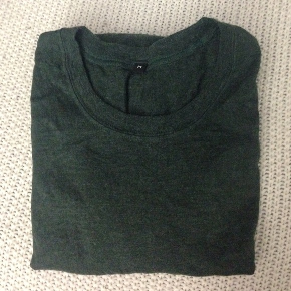 50 off muji tops muji olive tshirt from amanda 39 s closet. Black Bedroom Furniture Sets. Home Design Ideas