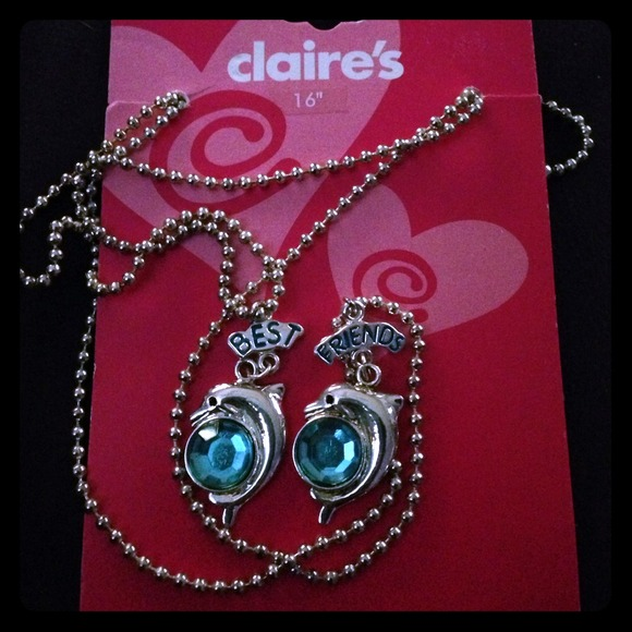 50 Off Claire S Jewelry Dolphin Best Friend Blue Gem