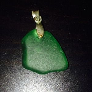 Green sea glass pendant.