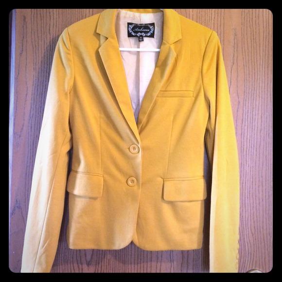 Jackets & Coats - Mustard Blazer
