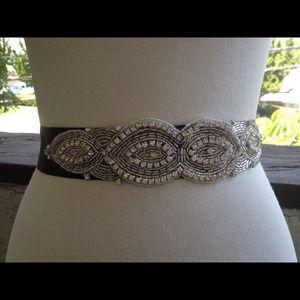 Rhinestone wedding belt sash.