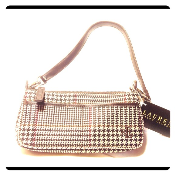 369d39a946f4 Small houndstooth plaid purse