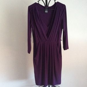 Royal Purple Fitted Dress