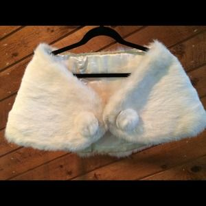 Vintage, white rabbit cape