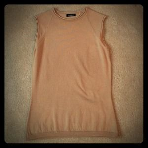 Tahari Sleeveless Tan Top