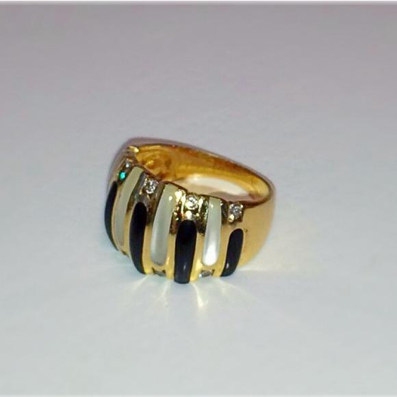 81% off KABANA Jewelry - KABANA 14K Ring Diamonds, Onyx, Mother of ...