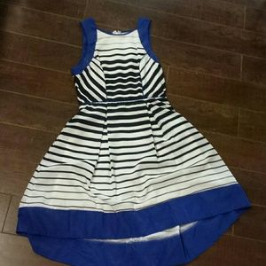 Blue with stripes nautical dress