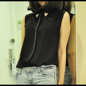 SALEsleeveless chiffon blouse