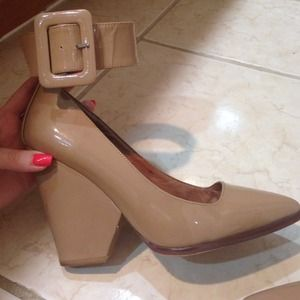 Jeffrey Campbell Shoes - Jeffrey Campbell Nude Ankle Strap Buckle Heel 4