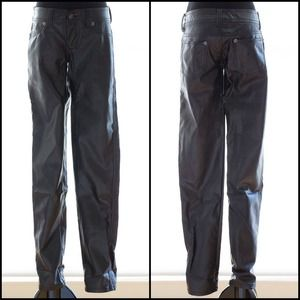 *WAS $50* GUESS vegan black leather slim-cut pants
