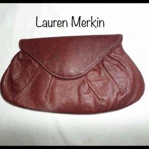 Lauren Merkin Handbags - LAUREN MERKIN Lotte Pleated Leather Flap Clutch