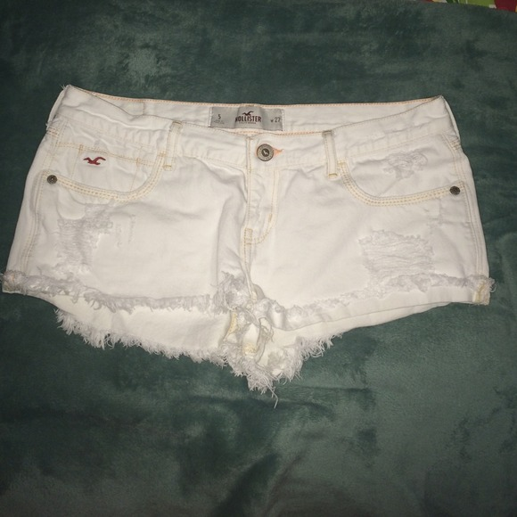 72% off Hollister Denim - HOLLISTER white super distressed denim ...