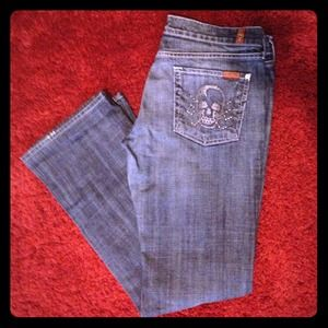 7 for all Mankind skull pocket Jeans size 30 NWOT