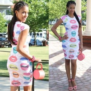 KTOO Dresses & Skirts - Kisses Lip Print Dress