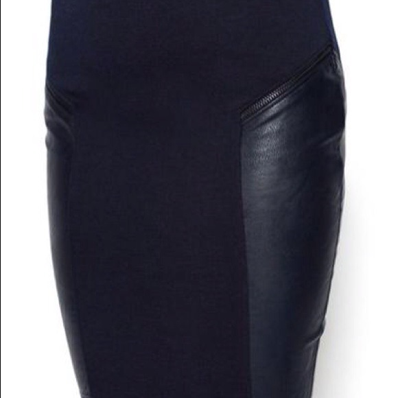 60% off Renvy Dresses & Skirts - NEW RENVY NAVY BLUE LEATHER ...