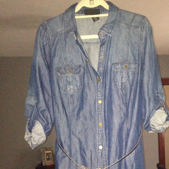 adfa6d833121c Lane Bryant Dresses   Skirts - Denim shirt dress 🎀💋❤️