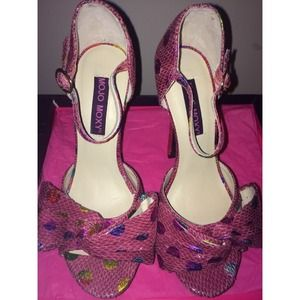 MojoMoxy Shoes - Pink Heels Brand New