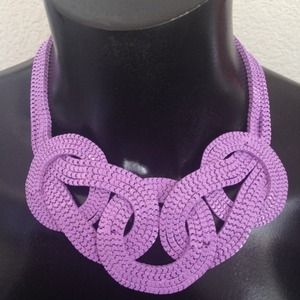 "Lavender  ""Knot"" Statement Necklace"