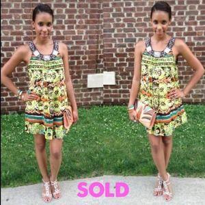 Dresses & Skirts - SOLD tribal Print mini dress
