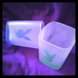 Set of 2 Playboy shot glasses
