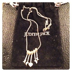 Judith Jack silver marquisite necklace