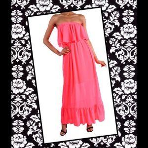 Dresses & Skirts - Long flowy hot pink maxi dress.......super hot!