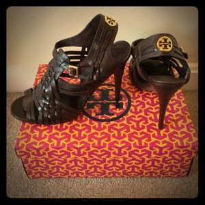 Tory Burch Kelton High Heel Huarache Sandals Sz 9