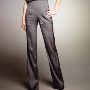 Donna Karan New York Grey Satin Pants 8 NWOT