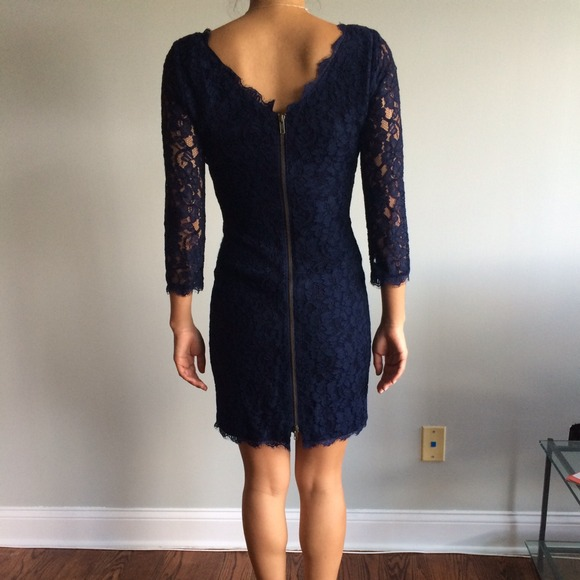 Navy Dvf Zarita Dress DVF Navy Zarita Dress