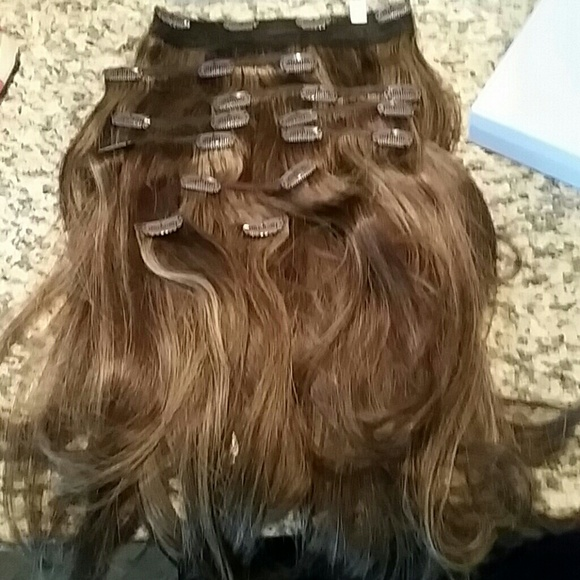 Head Kandy Accessories Hk Full Head Hair 16 Extensions Iced Coffee