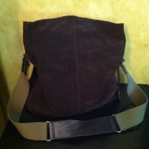 Ralph Lauren chocolate brown suede purse bag