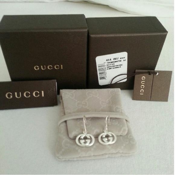 6e4d3cb31 Gucci Jewelry | Gg Double G Sterling Silver Drop Earrings | Poshmark