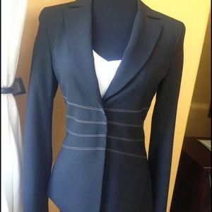 BCBG MaxAzria jacket with detailing at the waist