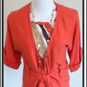 Anne Klein top and cardigan