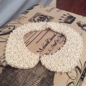 Pearl Bib Collar Necklace