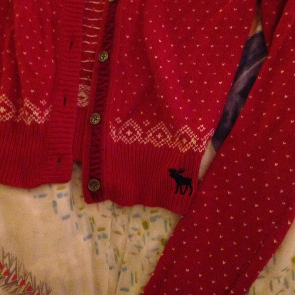 Abercrombie And Fitch Red Reindeer Sweater Abercrombie Fitch Red And